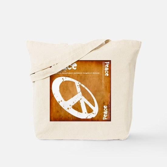 Orange Peace Tote Bag