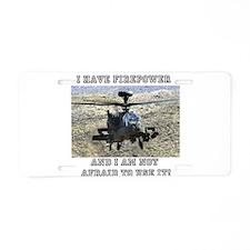 Airpower! Aluminum License Plate