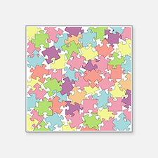 "PUZZLE PIECES Square Sticker 3"" x 3"""