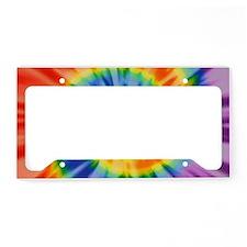 Printed Tie Dye Pattern License Plate Holder
