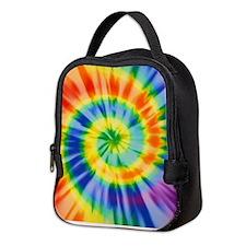 Printed Tie Dye Pattern Neoprene Lunch Bag