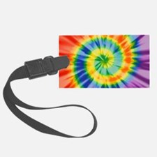 Printed Tie Dye Pattern Luggage Tag