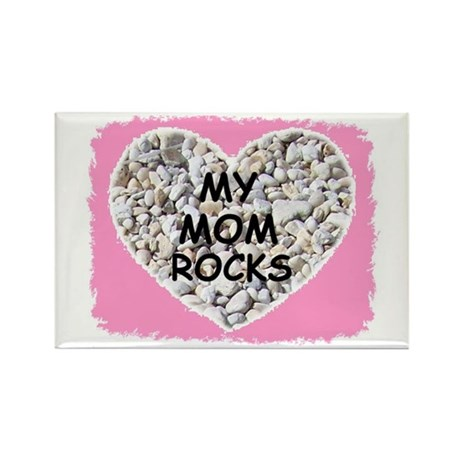MY MOM ROCKS Rectangle Magnet (10 pack)