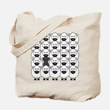 Beauceron and Sheep Tote Bag