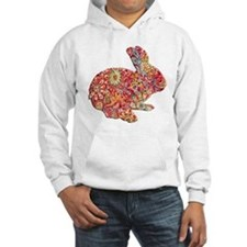 Colorful Floral Easter Bunny Hoodie
