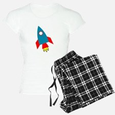 Cartoon Rocket Ship Pajamas