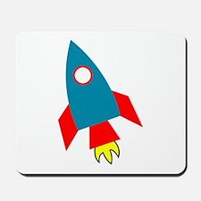 Cartoon Rocket Ship Mousepad