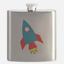 Cartoon Rocket Ship Flask