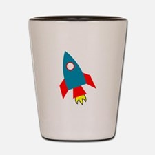Cartoon Rocket Ship Shot Glass