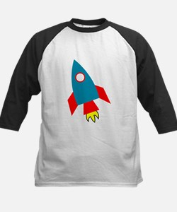 Cartoon Rocket Ship Baseball Jersey