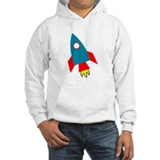 Cartoon Rocket Ship Hoodie