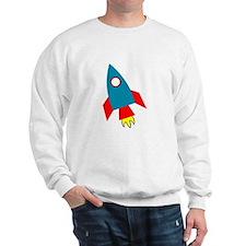 Cartoon Rocket Ship Sweatshirt