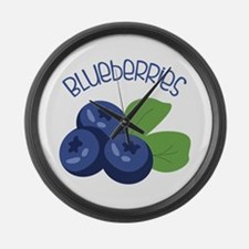 BLUEBERRIES Large Wall Clock