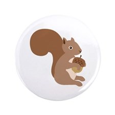 "Squirrels Acorn 3.5"" Button"