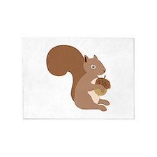 Squirrels Acorn 5'x7'Area Rug