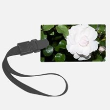 White Rose Luggage Tag