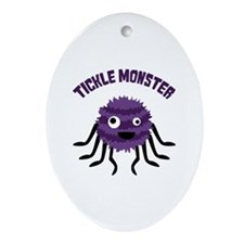 TICKLE MONSTER Ornament (Oval)