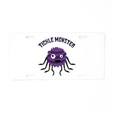 TICKLE MONSTER Aluminum License Plate