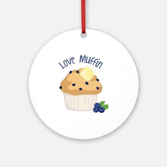Love Muffin Ornament (Round)