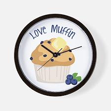 Love Muffin Wall Clock