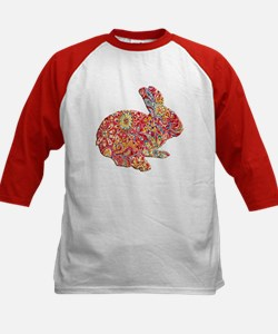 Colorful Floral Easter Bunny Baseball Jersey