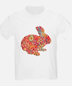 Colorful Floral Easter Bunny T-Shirt