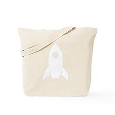White Rocket Ship Tote Bag