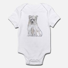 Chinese Crested Powder Puff Infant Bodysuit