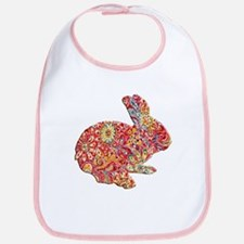 Colorful Floral Easter Bunny Bib