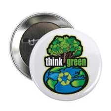 "Think Green 2.25"" Button (10 pack)"