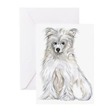 Chinese Crested Powder Puff Greeting Cards (Packag