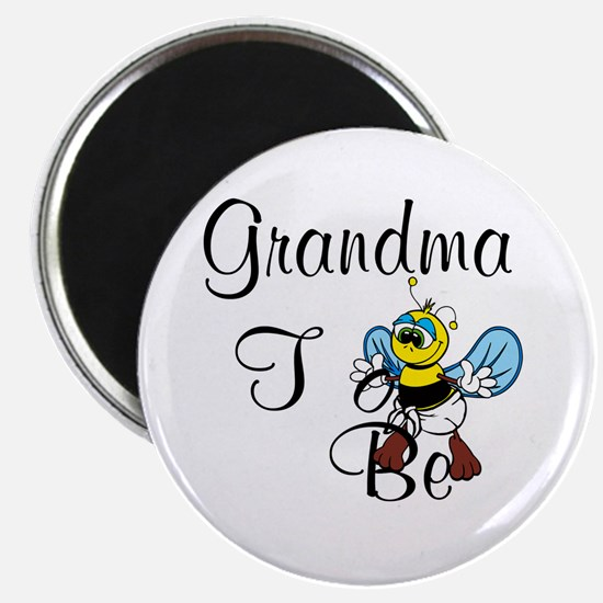 Playful Grandma To Bee Magnets