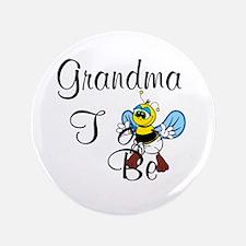 "Playful Grandma To Bee 3.5"" Button"
