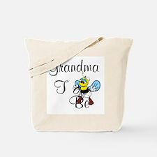 Playful Grandma To Bee Tote Bag