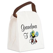Playful Grandma To Bee Canvas Lunch Bag