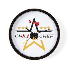 All-Star Chili Chef Wall Clock