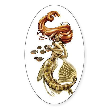 Amazon Mermaid Oval Sticker