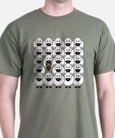 Malinois and Sheep T-Shirt