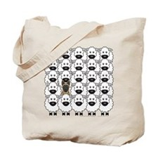 Malinois and Sheep Tote Bag