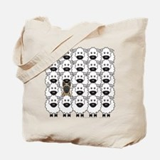 Malinois and Sheep Tote Bag