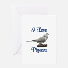 I Love Pigeons Greeting Card