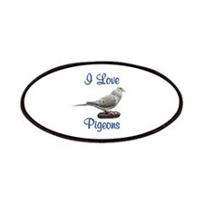 I Love Pigeons Patches