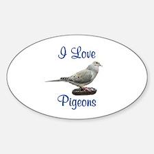 I Love Pigeons Decal