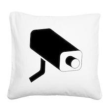 Surveillance Camera Square Canvas Pillow