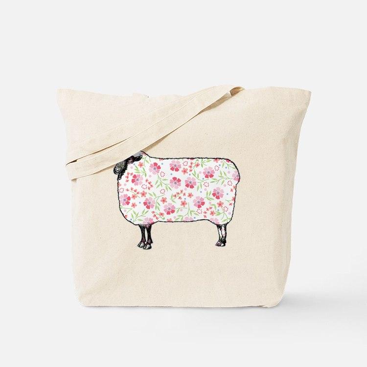 Floral Sheep Tote Bag