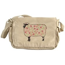 Floral Sheep Messenger Bag