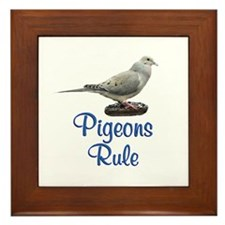 Pigeons Rule Framed Tile