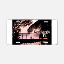 Key Largo, FL Sunset Aluminum License Plate