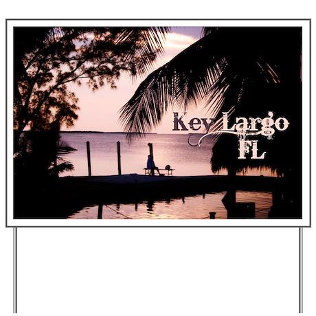 Key Largo, FL Sunset Yard Sign