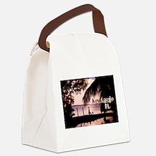 Key Largo, FL Sunset Canvas Lunch Bag